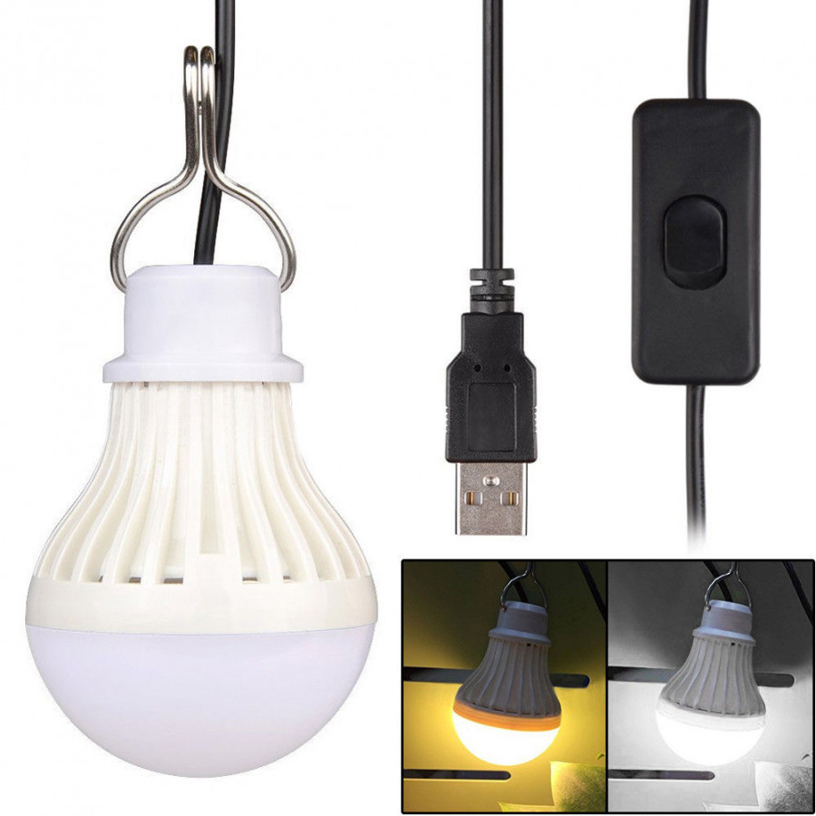 Camping Lights Tent Bulb Super Bright USB Switch LED Outdoor Flashlight
