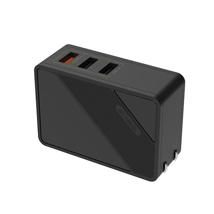 Cốc sạc 3 Cổng USB hỗ trợ Sạc Nhanh Q.C 3.0 WP-U22