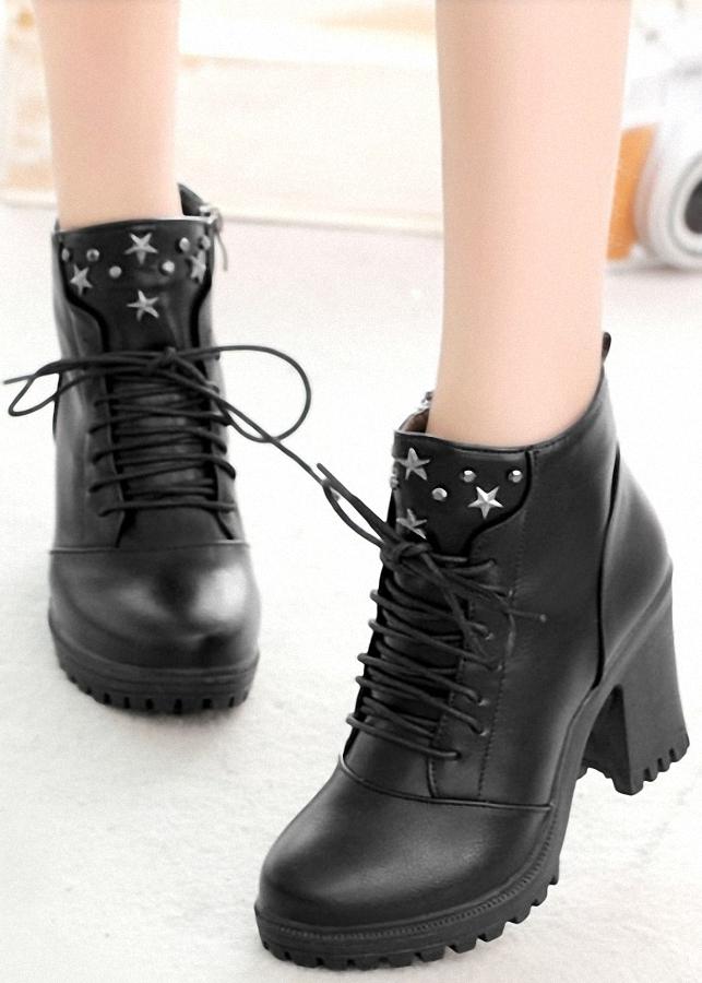 Giày bốt nữ 2018 - Phong cách Hàn Quốc BOT78