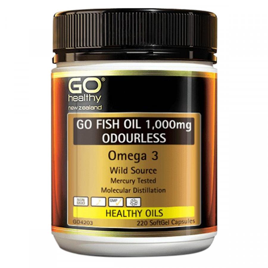 Thực Phẩm Chức Năng Viên Dầu Cá Omega 3 GO Fish Oil 1000mg