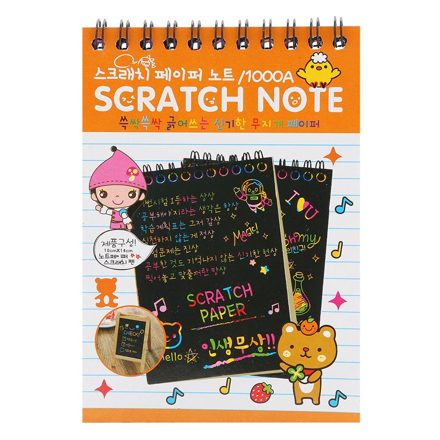 Sổ Cào Ma Thuật Scratch Note A6 - Màu Ngẫu Nhiên