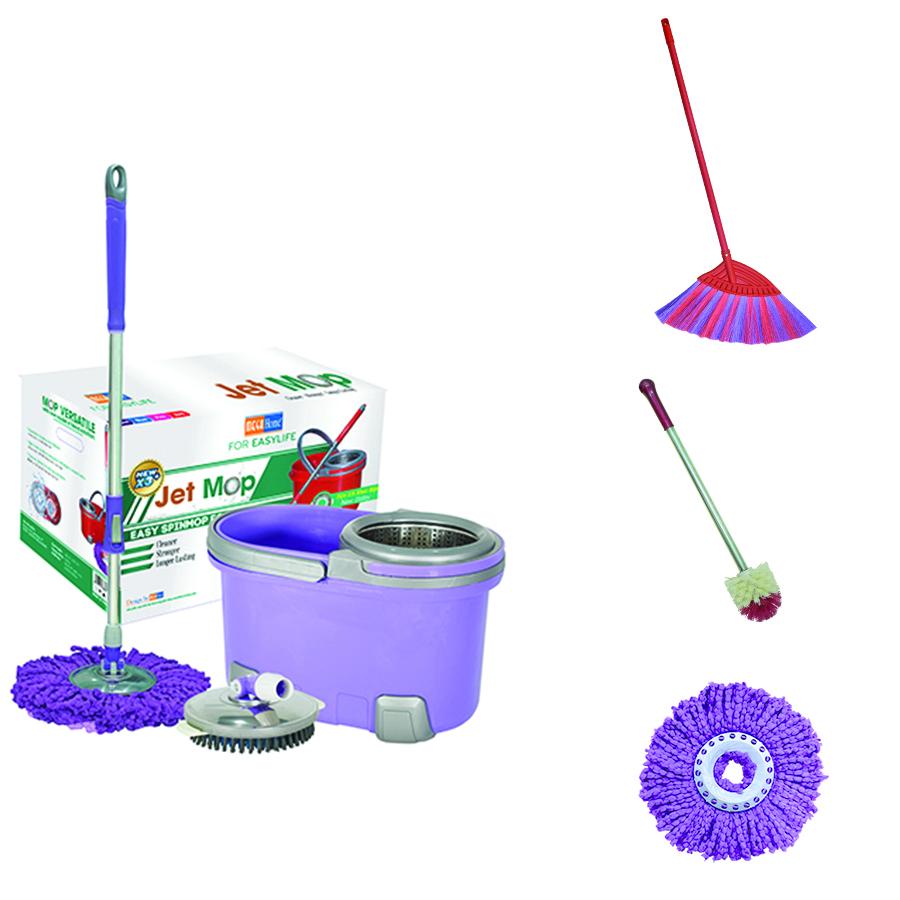 Combo (Bộ lau nhà Jet Mop X3+, Chổi nhựa Homebroom X2, Cọ toilet đầu tròn, Bông Lau Microfiber) màu ngẫu nhiên - 18406054 , 3956016295961 , 62_21442912 , 709900 , Combo-Bo-lau-nha-Jet-Mop-X3-Choi-nhua-Homebroom-X2-Co-toilet-dau-tron-Bong-Lau-Microfiber-mau-ngau-nhien-62_21442912 , tiki.vn , Combo (Bộ lau nhà Jet Mop X3+, Chổi nhựa Homebroom X2, Cọ toilet đầu tr