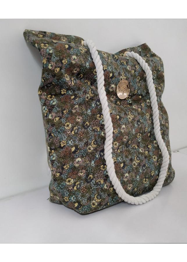 Túi xách tay nữ hoa văn canvas cực đẹp