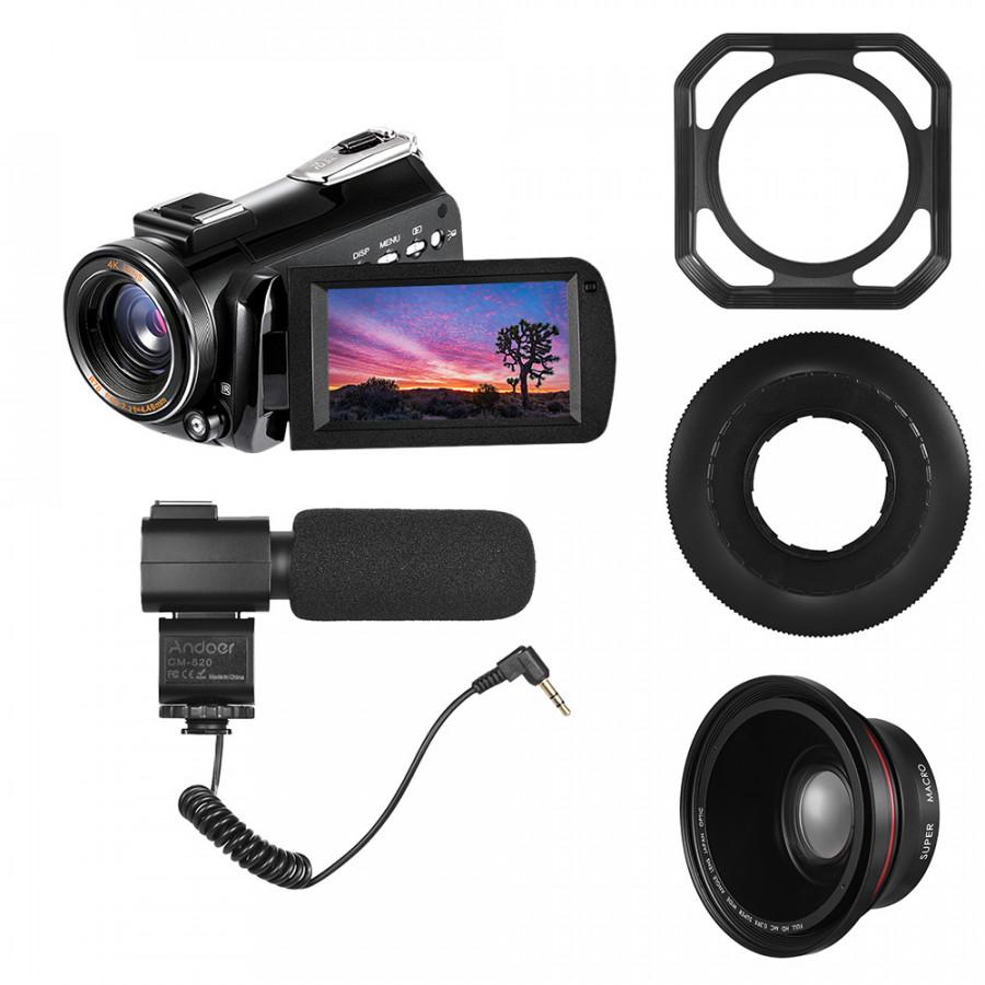 Andoer AC3 4K UHD 24MP Digital Video Camera Camcorder DV Recorder 30X Zoom WiFi Connection IR Night Vision 3.1 Inch IPS - 2372474 , 9699492949112 , 62_15536761 , 5873000 , Andoer-AC3-4K-UHD-24MP-Digital-Video-Camera-Camcorder-DV-Recorder-30X-Zoom-WiFi-Connection-IR-Night-Vision-3.1-Inch-IPS-62_15536761 , tiki.vn , Andoer AC3 4K UHD 24MP Digital Video Camera Camcorder DV
