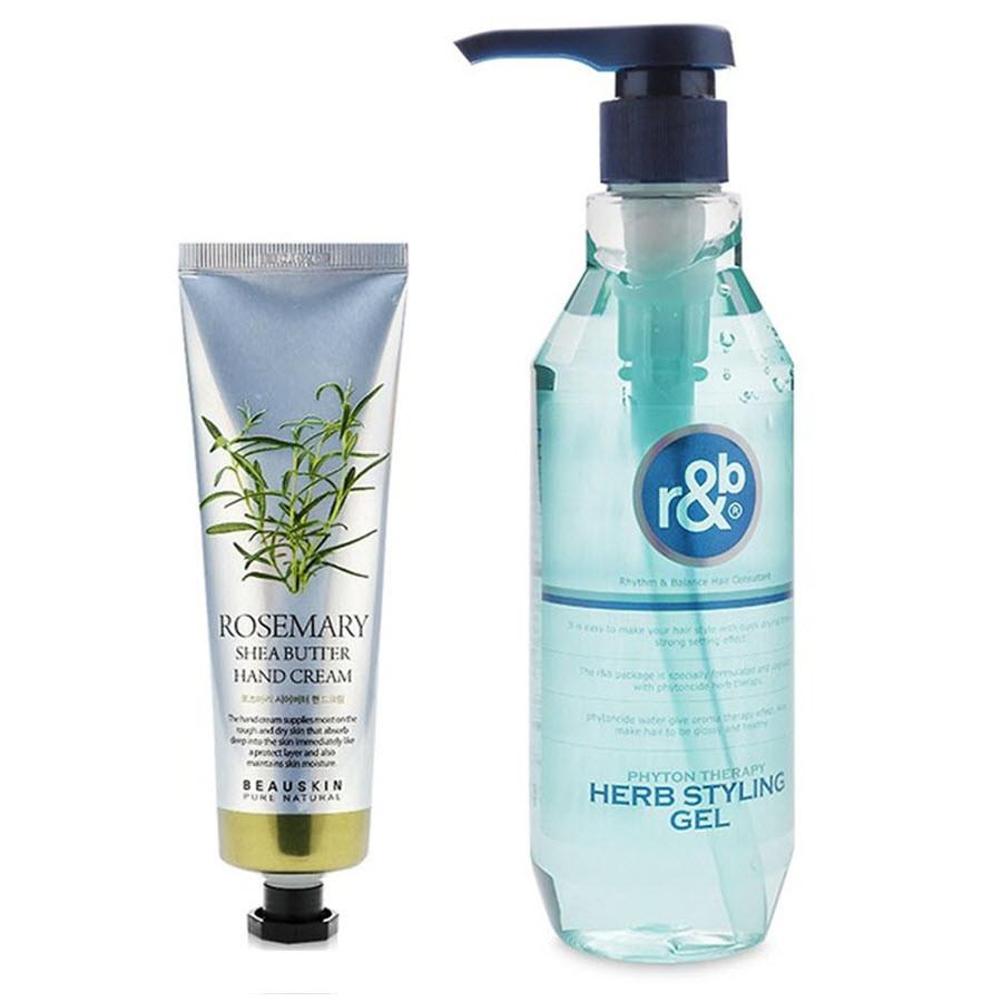 Combo Kem dưỡng tay trị khô nẻ dưỡng mềm da chiết xuất thảo mộc Beauskin Rosemary -  Nước dưỡng tóc bóng mềm...