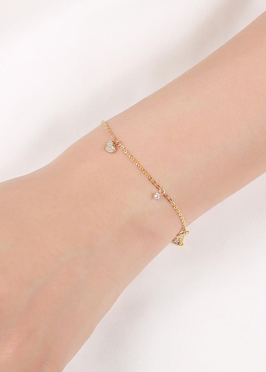 Lắc Tay Nữ vàng Huy Thanh Jewelry LLF69
