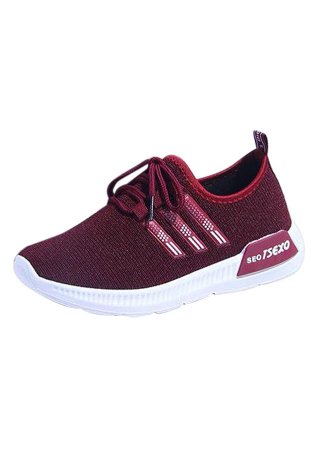 Giày Sneaker Nữ Thời Trang Erosska GN036 - Đỏ Đô