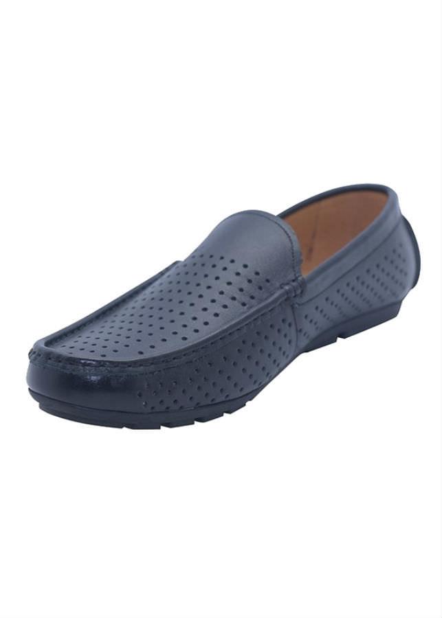 Giày Lười Nam Da Bò G180D - Đen