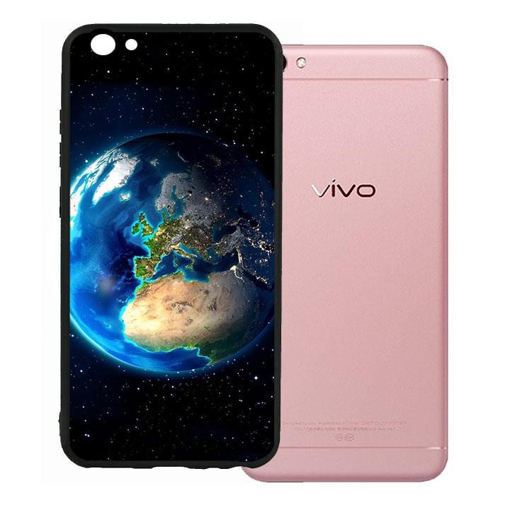 Ốp lưng viền TPU cho Vivo V5 - Earth