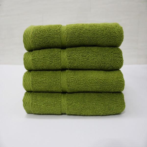 Combo 5  khăn quấn tóc, khăn mặt SPA Nam Phong - 34x80 cm - màu xanh rêu nhạt