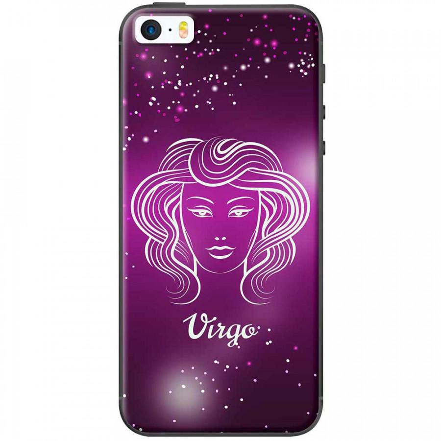 Ốp lưng  dành cho iPhone 5, iPhone 5s mẫu Cung hoàng đạo Virgo (hồng)