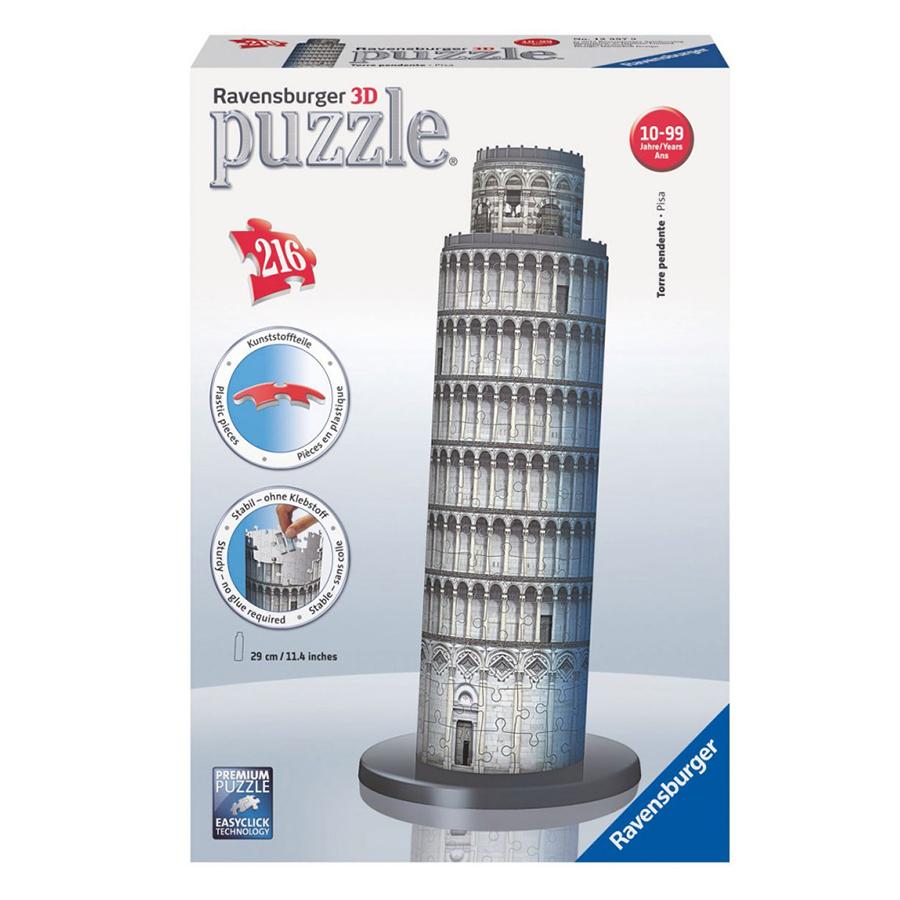 Xếp Hình Puzzle 3D Tháp Nghiêng Pisa 216P Ravensburger RV12557 9