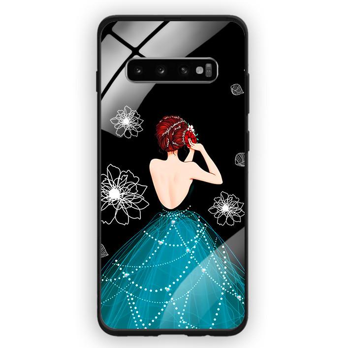 Ốp Lưng Kính Cường Lực Cho Điện Thoại Samsung Galaxy S10 Plus - 391 0105 GIRL04 - Hàng Chính Hãng