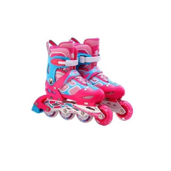 Giầy trượt patin Cougar 1 bánh phát sáng 835LSG màu hồng size l