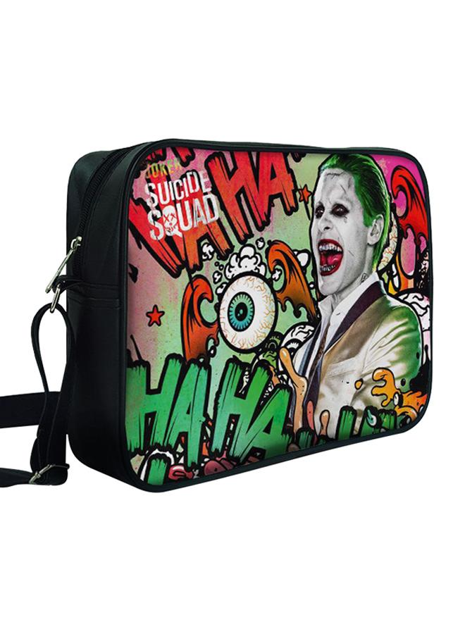 Túi Đeo Chéo Hộp Unisex In Hình Joker Và Hoạ Tiết Chữ- TCFF322
