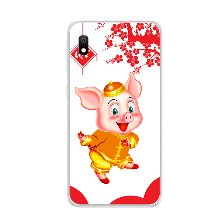 Ốp lưng dẻo cho điện thoại Samsung Galaxy A10 - 0053 PIG2019 - Hàng Chính Hãng