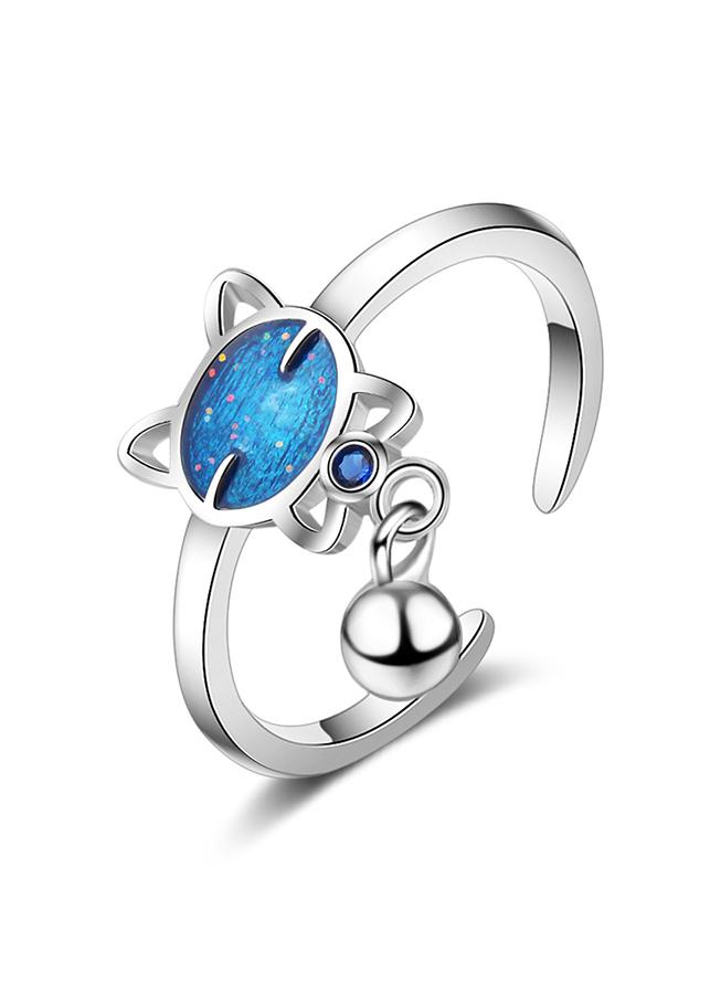 Nhẫn nữ Mèo xanh đeo chuông