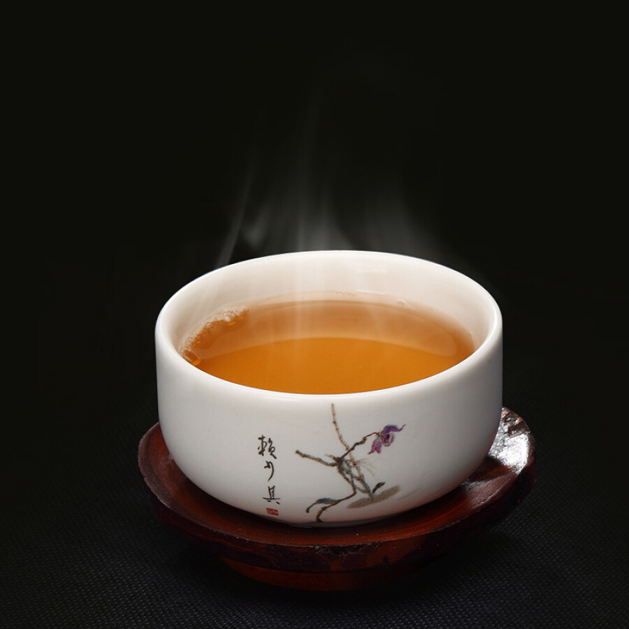 Chén Trà Họa Tiết Hoa Lan Hengfu- 3 Chiếc