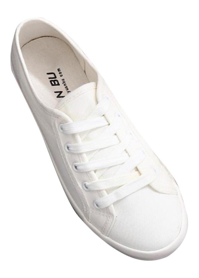 Giày thể thao  vải cao cấp siêu mềm siêu nhẹ màu trắng