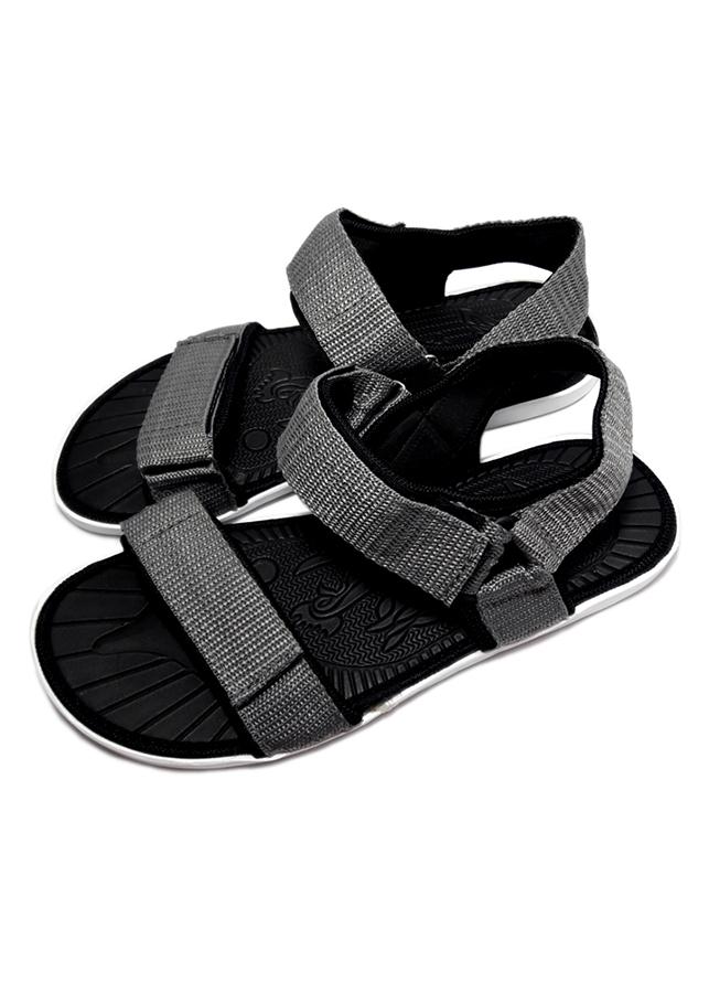 Giày sandal nữ quai dù thời trang T055K535 - Xám