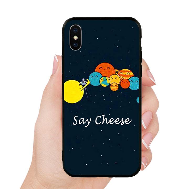 Ốp lưng viền TPU cho Iphone X - Say Cheese