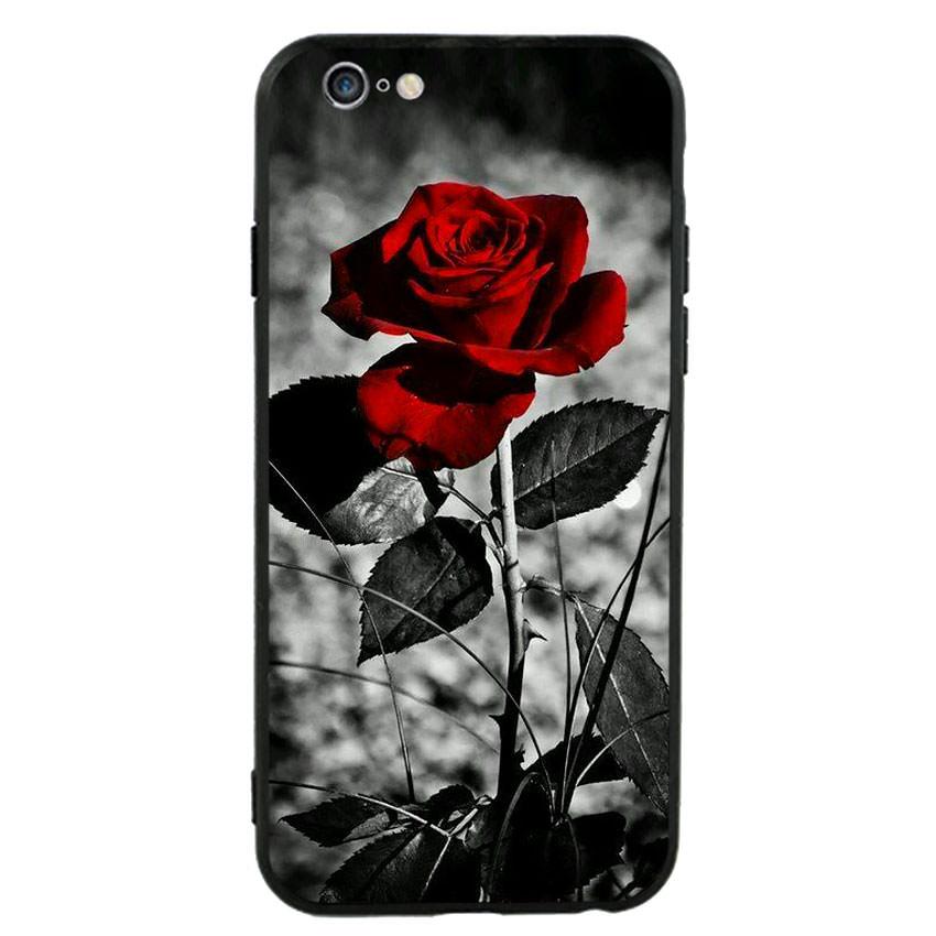Ốp lưng viền TPU cho điện thoại Iphone 6 Plus/6s Plus -Rose 08