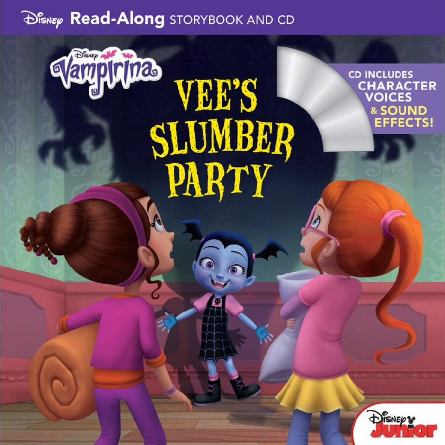 Vampirina Read-Along Book and CD Vees Slumber P
