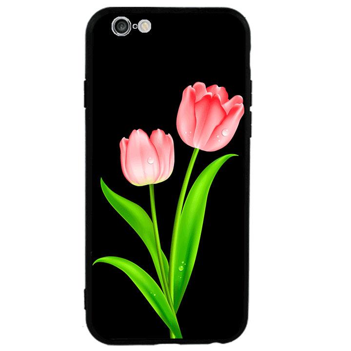 Ốp lưng viền TPU cao cấp cho Iphone 6 Plus - Hoa Tulip 01