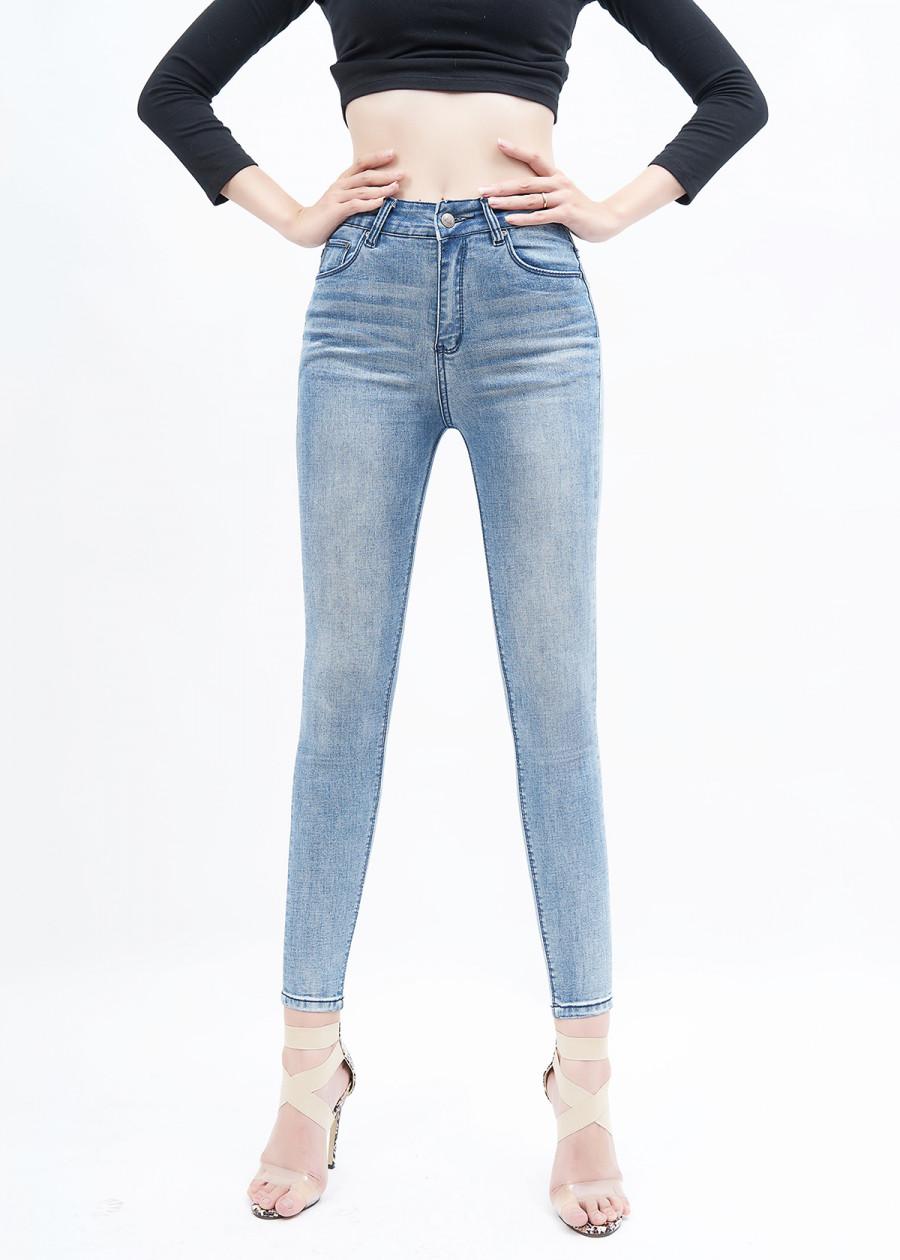Quần jean nữ lưng cao