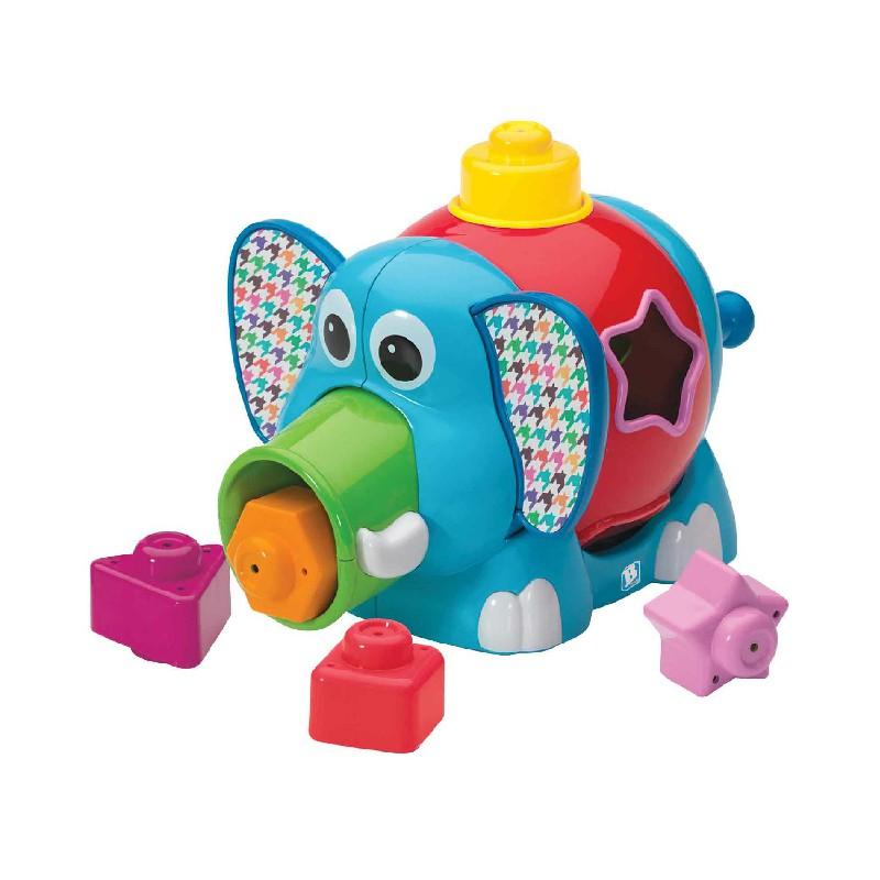 Chú voi Jumbo thả hình luyện hình khối, màu sắc B KIDS 073590