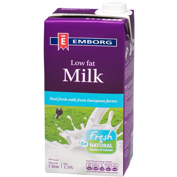Sữa Tươi Nguyên Chất Tiệt Trùng Ít Béo Không Đường Emborg (1L) - 1426577 , 5704025017405 , 62_7377491 , 60000 , Sua-Tuoi-Nguyen-Chat-Tiet-Trung-It-Beo-Khong-Duong-Emborg-1L-62_7377491 , tiki.vn , Sữa Tươi Nguyên Chất Tiệt Trùng Ít Béo Không Đường Emborg (1L)