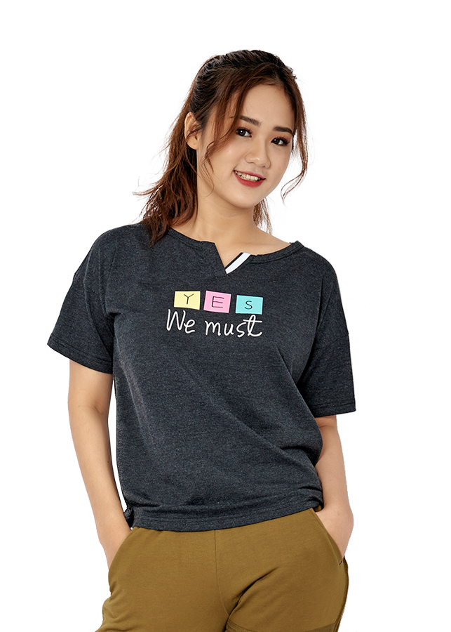 Áo T-shirt Nữ Delta Tay Ngắn TS027W - Đen