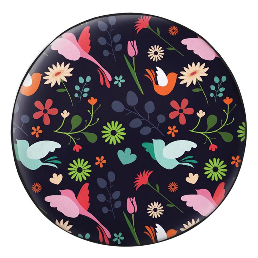 Gối Ôm Tròn In Hình Chim Và Hoa - GOHT354