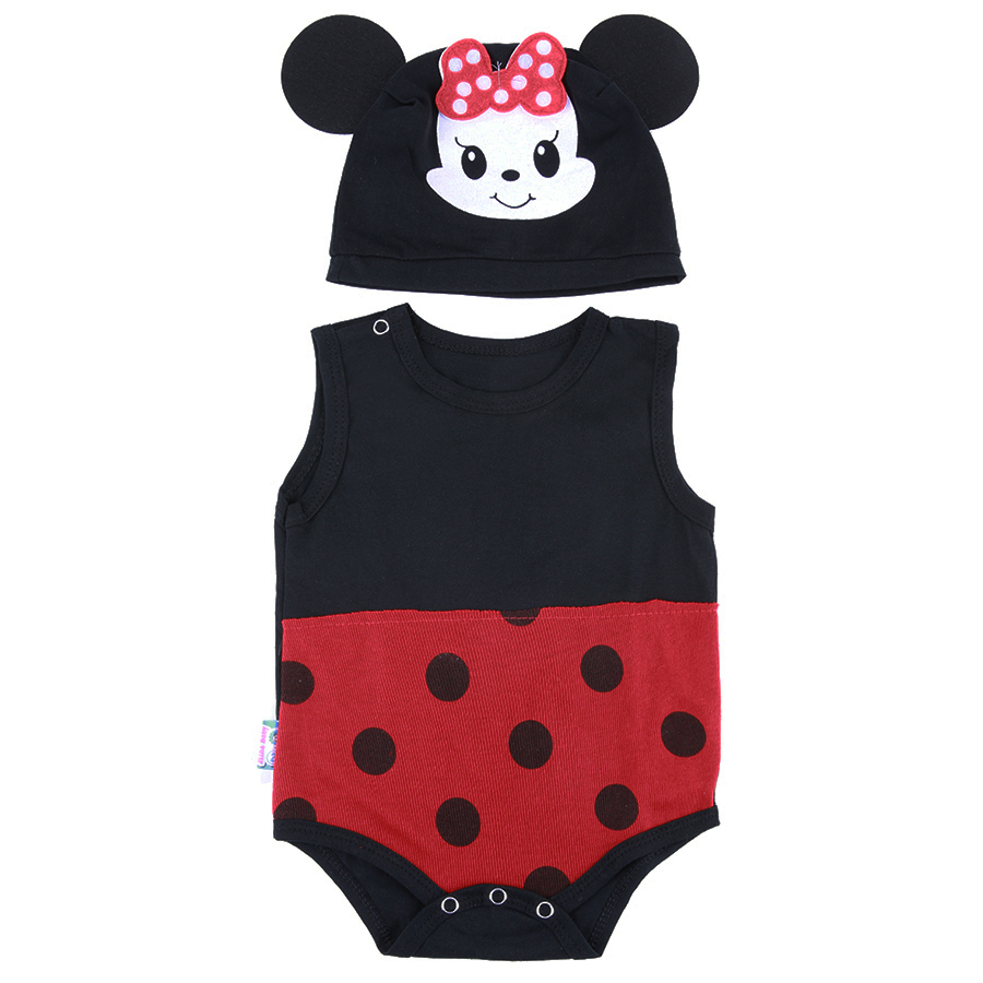 Bộ Bodysuit Mickey Mihababy BDS10_MICKEY - Đen