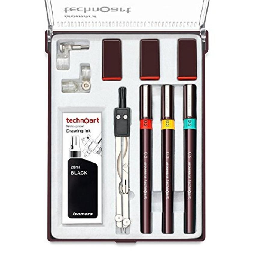Bộ Bút Vẽ Kỹ Thuật ISOMARS Technoart Drawing Set Of 3 - 1885611 , 9933248759724 , 62_14438914 , 1000000 , Bo-But-Ve-Ky-Thuat-ISOMARS-Technoart-Drawing-Set-Of-3-62_14438914 , tiki.vn , Bộ Bút Vẽ Kỹ Thuật ISOMARS Technoart Drawing Set Of 3