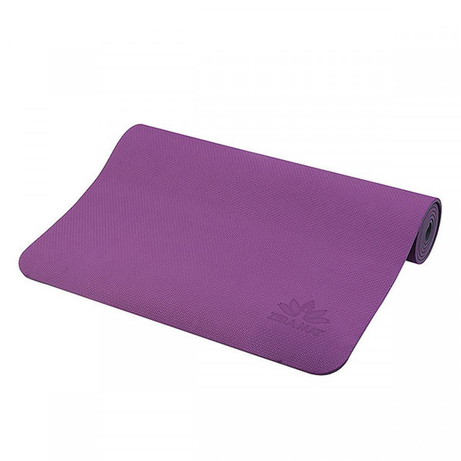 Thảm Tập Yoga TPE ZERA 8mm 1 Lớp Màu Tím Tặng Kèm túi