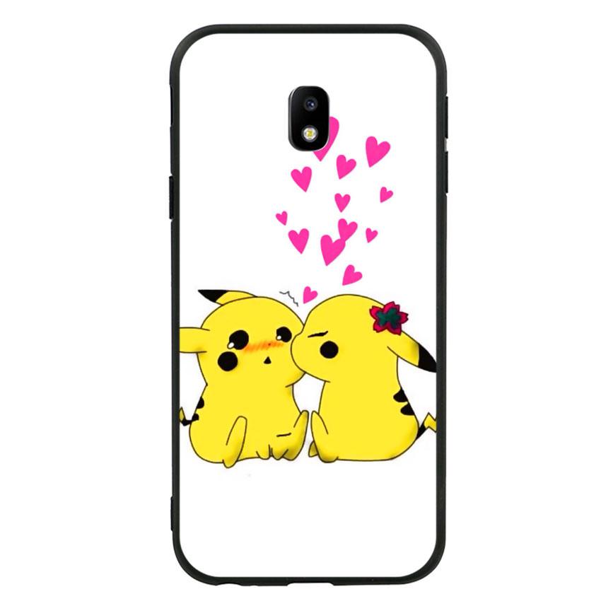 Ốp lưng viền TPU cho điện thoại Samsung Galaxy J3 Pro - Pikachu 02