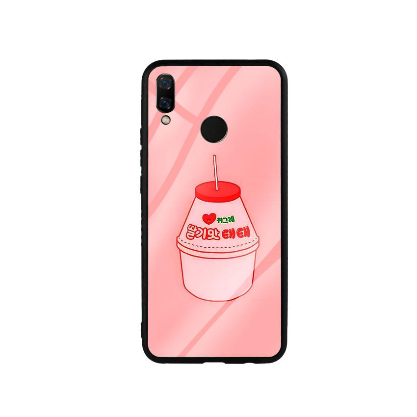 Ốp Lưng Kính Cường Lực cho điện thoại Huawei Nova 3i - Tea Milk