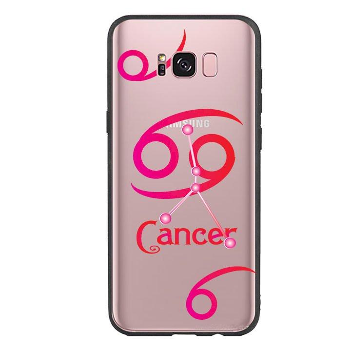 Ốp lưng cho điện thoại Samsung Galaxy S8 Plus viền TPU cung Cự Giải - Cancer