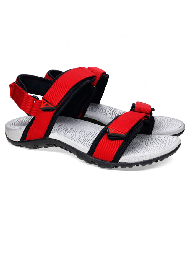 Giày Sandal Việt Thủy Quai Ngang VT1 - Đỏ - Kèm Balo Túi Rút Đặc Biệt