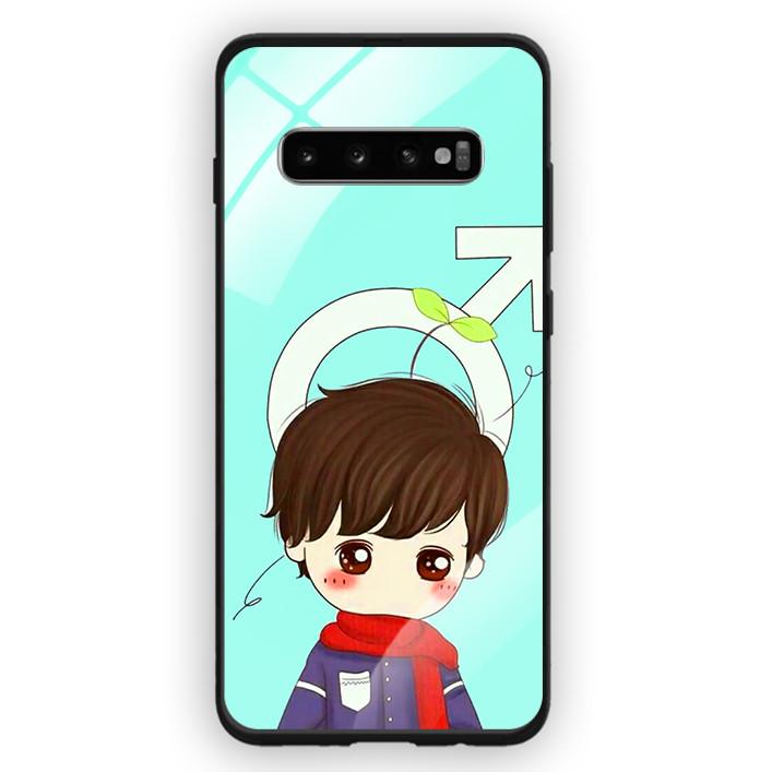 Ốp Lưng Kính Cường Lực Cho Điện Thoại Samsung Galaxy S10 Plus - 391 0042 COUPLEBOY06 - Hàng Chính Hãng