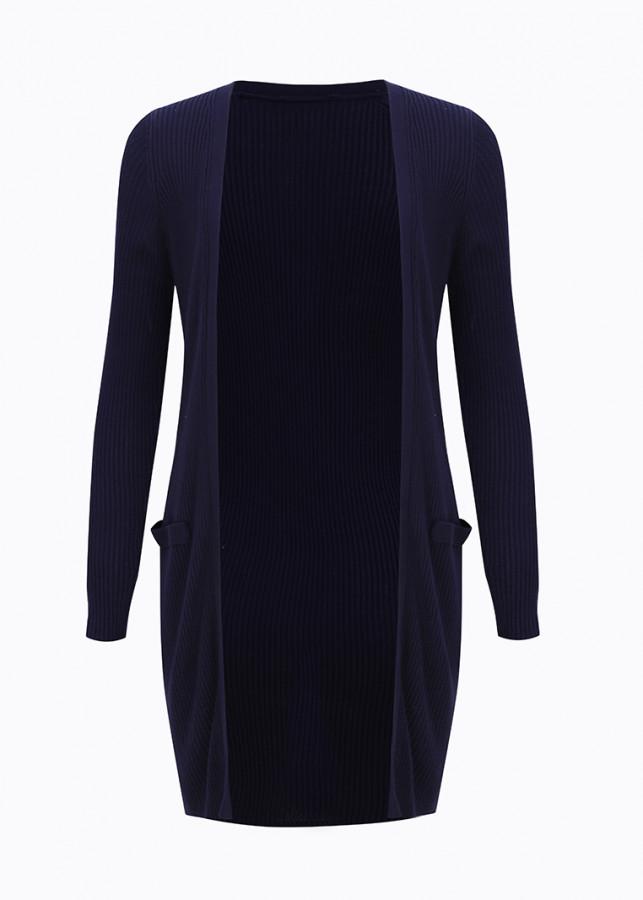 Áo cardigan dáng dài, mỏng VIENNE TRAN V65C18T029-WOS32 (Xanh than) - One Size