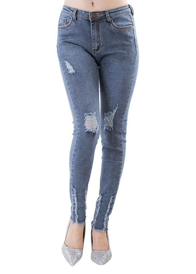 Quần Jeans Nữ Rách Không Gấu JNR014