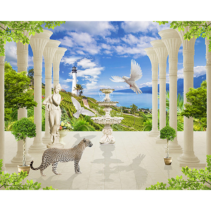 Tranh cửa sổ 3d| Tranh dán tường cửa sổ phong cảnh 3d 350 - 1218285 , 6837476156580 , 62_5186785 , 450000 , Tranh-cua-so-3d-Tranh-dan-tuong-cua-so-phong-canh-3d-350-62_5186785 , tiki.vn , Tranh cửa sổ 3d| Tranh dán tường cửa sổ phong cảnh 3d 350