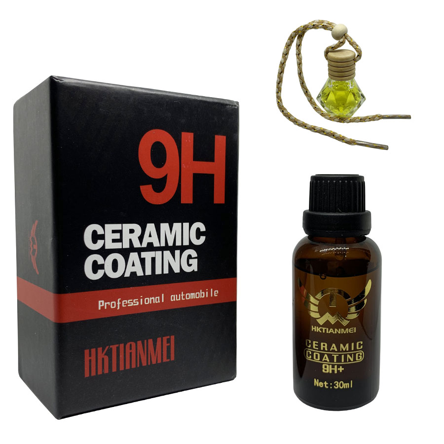 Dung dịch phủ Nano Ceramic Coating 9H 30ml - Tặng 1 lọ tinh dầu treo ô tô