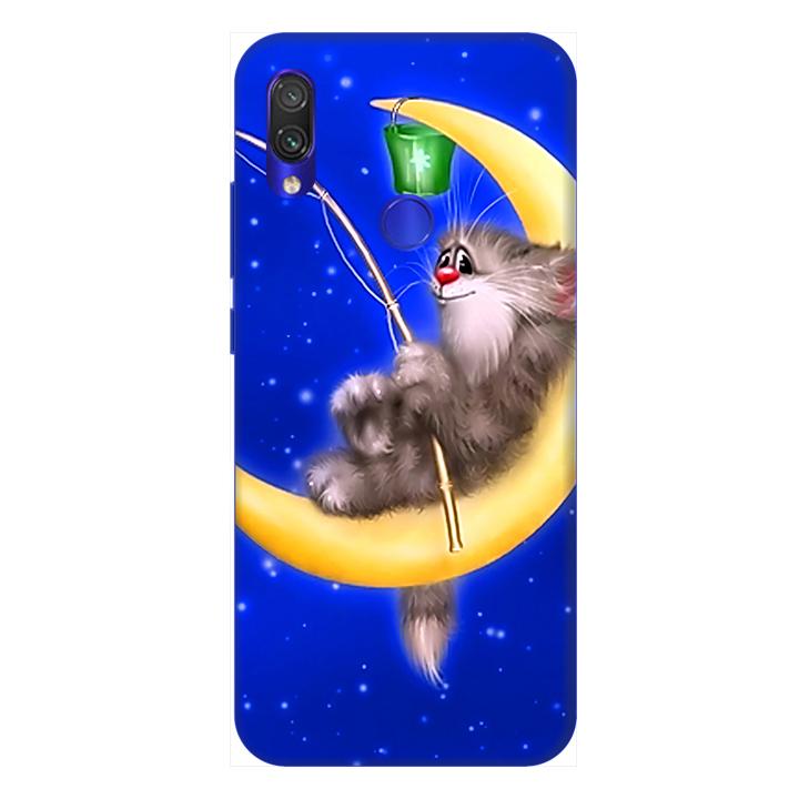 Ốp lưng dành cho điện thoại Xiaomi Redmi Note 7 hình Khỉ Ngủ Dưới Trăng - Hàng chính hãng