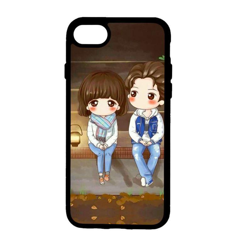 Ốp lưng dành cho điện thoại Iphone 7 Anime Cặp Đôi Ngồi