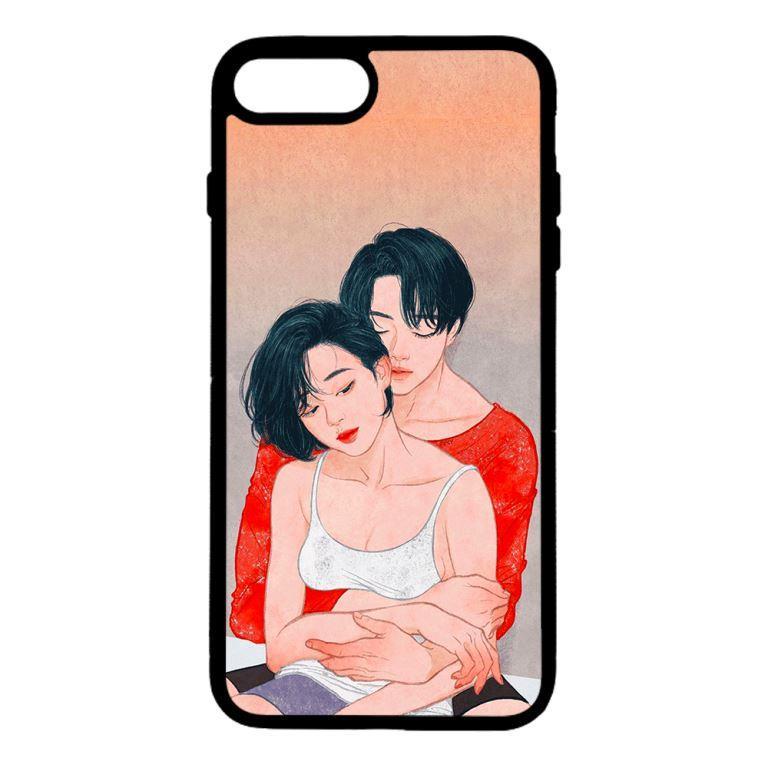 Ốp lưng dành cho điện thoại Iphone 7 Plus Cặp Đôi Ôm Nhau