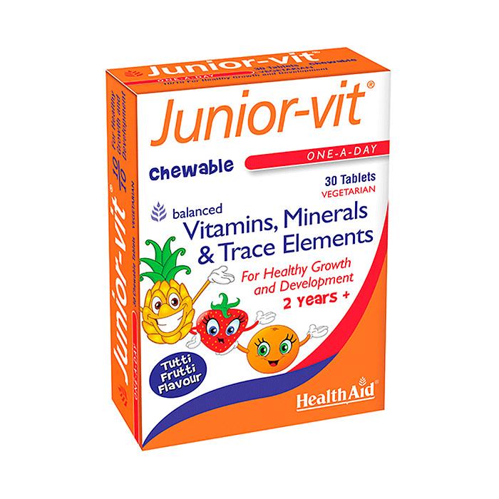Healthaid Junior Vit, Cung cấp đầy đủ Vitamin và khoáng chất giúp trẻ cao lơn hơn, hết biếng ăn