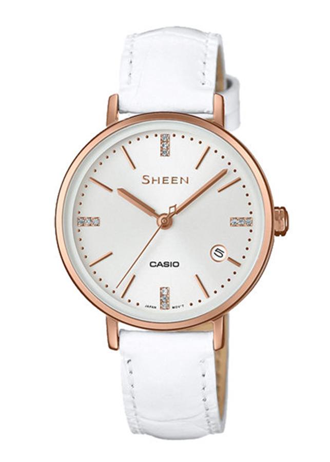 Đồng hồ Nữ Casio Sheen dây da SHE-4048PGL-7AUDR - 9624992 , 3364478324608 , 62_19744320 , 3795000 , Dong-ho-Nu-Casio-Sheen-day-da-SHE-4048PGL-7AUDR-62_19744320 , tiki.vn , Đồng hồ Nữ Casio Sheen dây da SHE-4048PGL-7AUDR